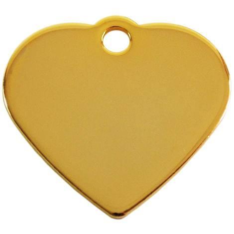 Adressanhänger mit Gravur - Herz klein - Gold