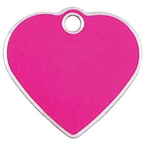 Adressanhänger mit Gravur - Herz klein - mit Rand