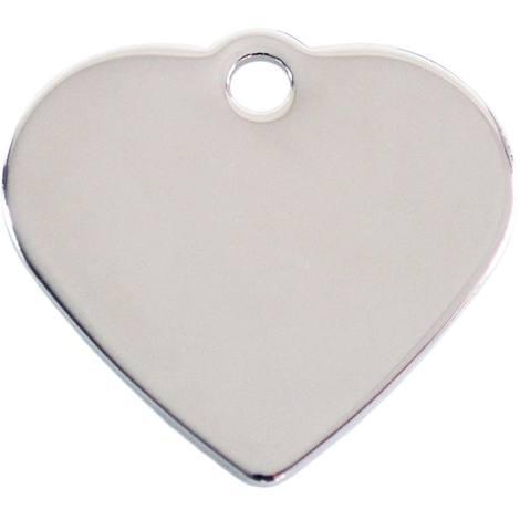 Adressanhänger mit Gravur - Herz klein - Silber