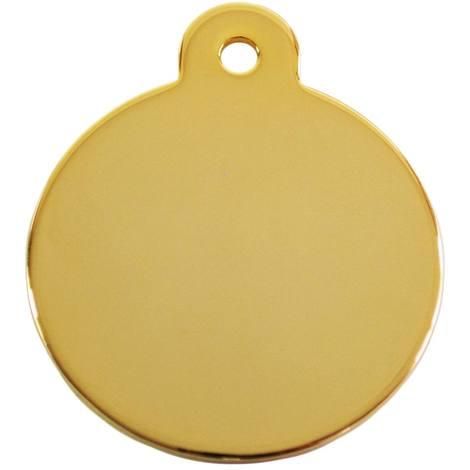 Adressanhänger mit Gravur - rund groß - Gold