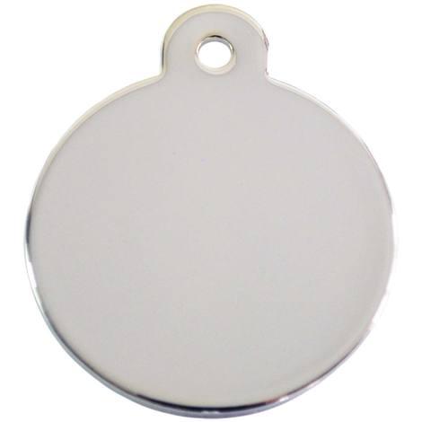 Adressanhänger mit Gravur - rund groß - Silber