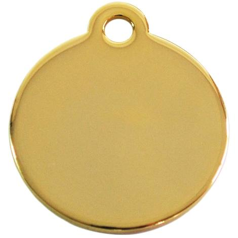 Adressanhänger mit Gravur - rund klein - Gold