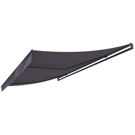 Adro - Store banne manuel 4x3m gris polyester