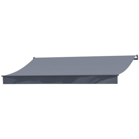 """main image of """"Adro - Store banne manuel 4x3m gris polyester"""""""