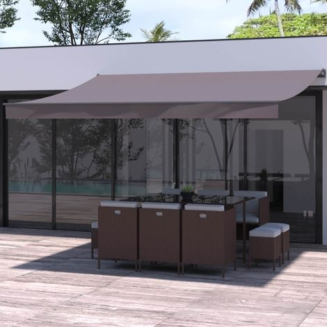 Adro - Store banne manuel 4x3m taupe polyester