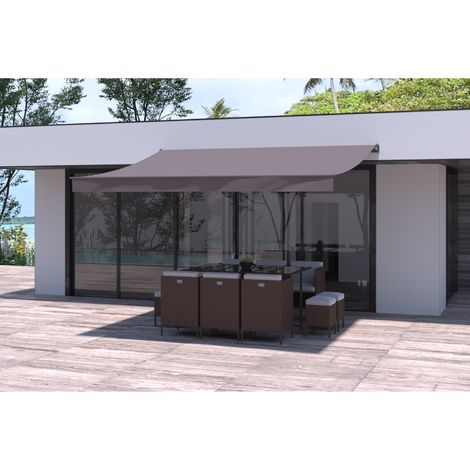 Adro - Store banne taupe 3820 x 3000 mm