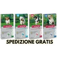 Advantix Bayer - 4 pipette per cani da 0-4 / 4-10 / 10-25 / oltre 25 kg