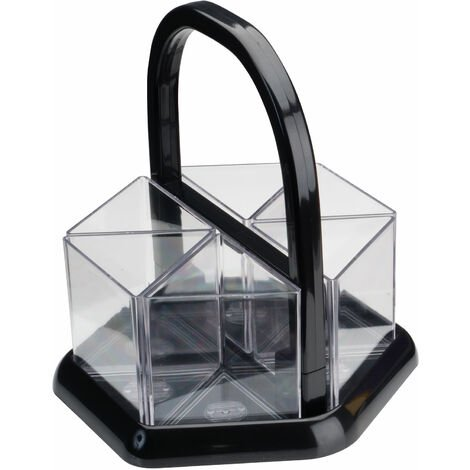 Adventa Handi-Holder Clear Desk Tidy