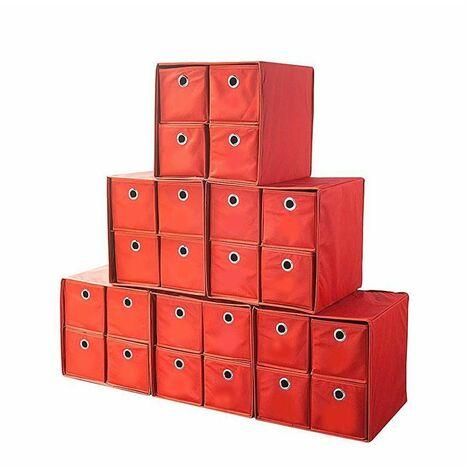 Adventskalender zum Befüllen Adventsbox Faltbox 6er Set 4 Schubfächer 32x32 cm
