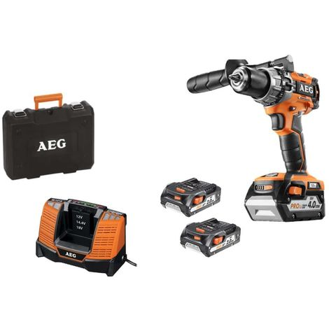 AEG brushless compact drill 18 V - 3 batteries - charger BSB18C2BLLI-X03C