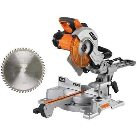 AEG Electric mitre saw package 2000W PS254L - 48 teeth radial saw blade 3.2x254mm