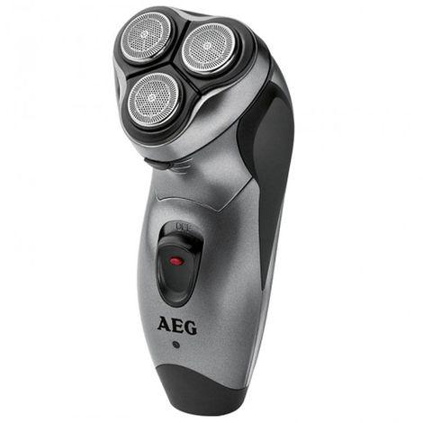 AEG HR 5654 - Afeitadora eléctrica rotativa con triple lámina, batería recargable y cortapatillas