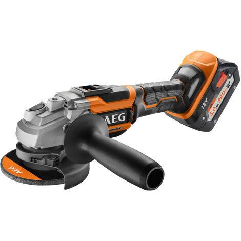 AEG - Meuleuse d'angle 125 mm Brushless 18 V Pro Li-Ion 5.0 Ah avec coffret - BEWS 18-125BL-502C