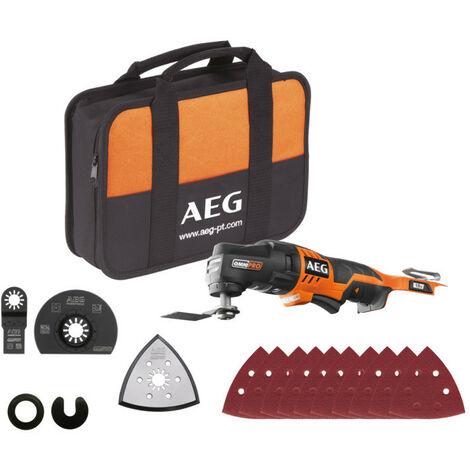 AEG - Multitool 18 V sans batterie ni chargeur 20.000 osc/min - OMNI 18C - 0KIT1X - TNT