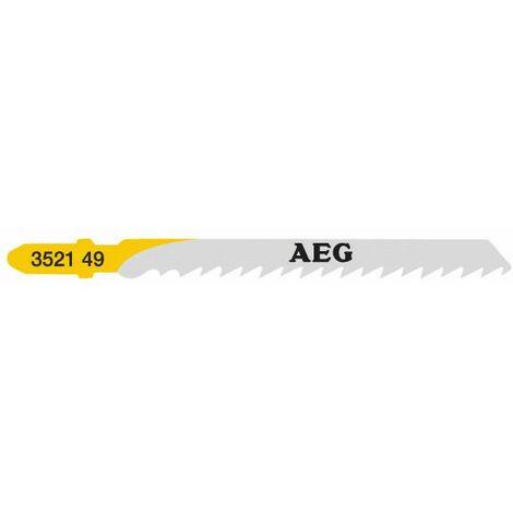 AEG Powertools Lame pour scie sauteuse Bois 75 x 4 mm T101D, 5 pcs - 4932352149
