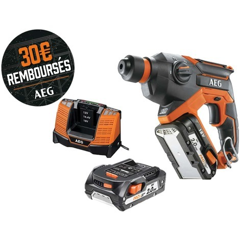 AEG SDS Plus chisel punch 18V - 2 batteries 2.0Ah - 1 charger BBH18C-LI202C