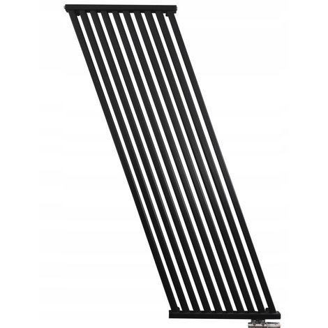 AELLO | Radiateur eau chaude design vertical 100x50cm Puissance 722 W | Radiateur chauffage central en Acier | Entraxe 50mm | Noir - Noir