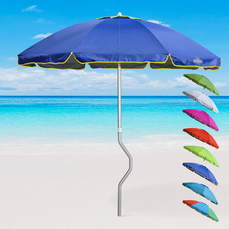 AEOLUS GiraFacile® 220cm Patented Aluminium Beach Umbrella with UPF 158+ UV Protection