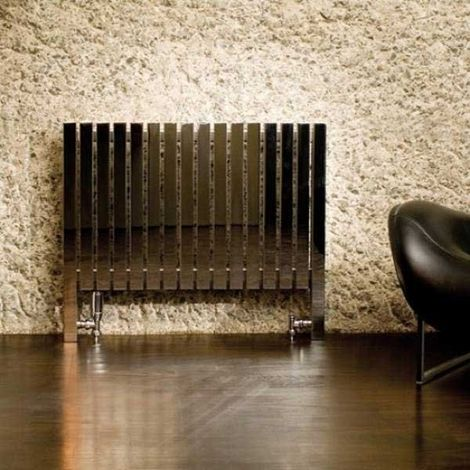 Aeon Arat L Designer Horizontal Radiator 660mm H x 790mm W - Brushed Matt