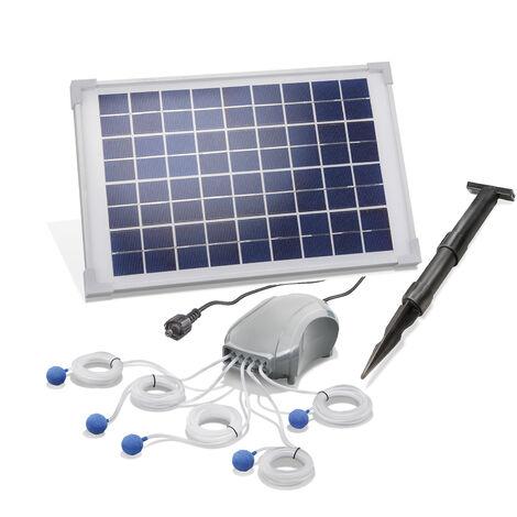Aérateur de bassin solaire 10W 5x120 l / h Pompe de bassin de jardin Ventilation de bassin esotec 101887