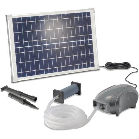 Aérateur de bassin solaire 25W 500l / h pompe aération de bassin oxygène esotec 101897