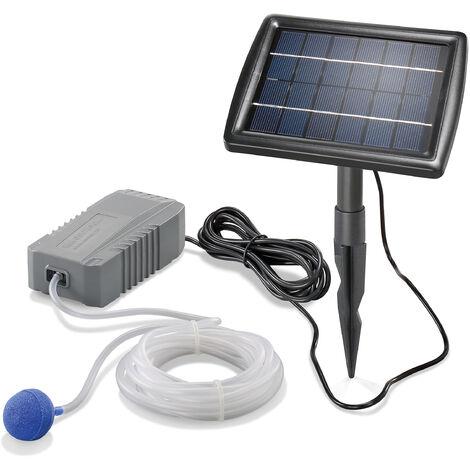 Aérateur de bassin solaire 2W 130 l / h pompe aération de bassin oxygène esotec 101840