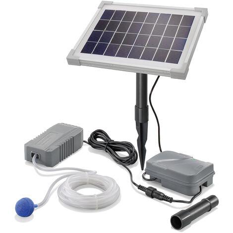 Aérateur de bassin solaire 5W 130 l/h + batterie aération de bassin oxygène esotec 101843