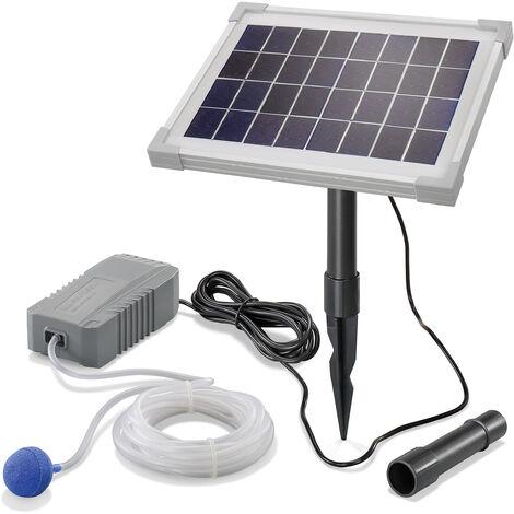 Aérateur de bassin solaire 5W 130 l/h pompe aération de bassin oxygène esotec 101842