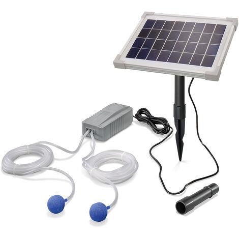 Aérateur de bassin solaire 5W 200 l/h pompe aération de bassin oxygène esotec 101844
