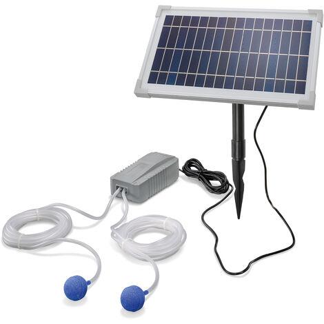 Aérateur de bassin solaire 8W 200 l/h pompe aération de bassin oxygène esotec 101845