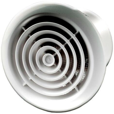 Aérateur extracteur d\'air PF 125 - chrome - 125mm - Winflex Ventilation
