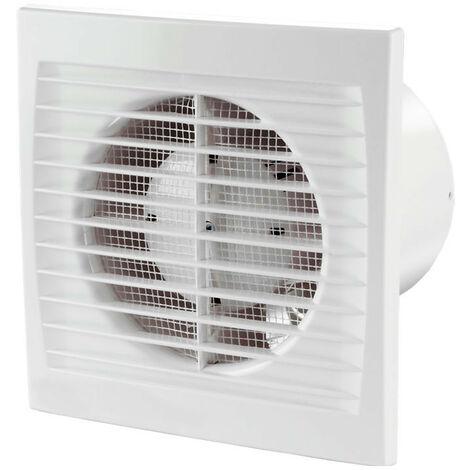 Aérateur / Extracteur d'air silencieux + Capteur d'humidité + Timer 125mm - Winflex Ventilation