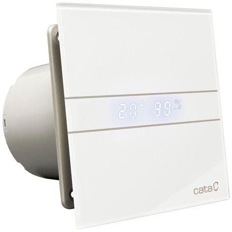 Aérateur extracteur E-100 Glass à minuterie et détection d'humidité CATA