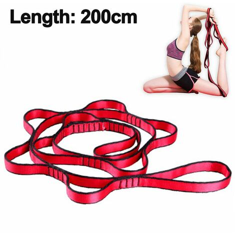 Aerial Yoga Hammock Daisy Chains - Yoga Swing Rope - Hanging Yoga Trapeze Extension Straps - Height Adjustable Nylon Chain Ideal for Antigravity Yoga Inversion - Home Outdoor Indoor Outdoor Rope Ropes, red