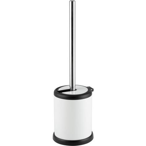 Aero Collection White Toilet Brush & Holder