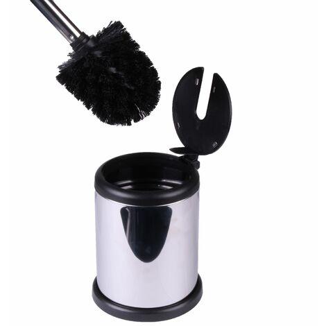 Aero Freestanding Stainless Steel Toilet Brush & Holder, Mirror Finish