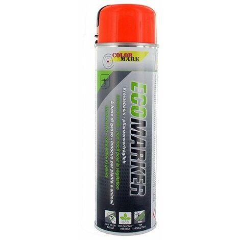 Aérosol COLOR MARK 500 ml fluo orange pour marquage craie