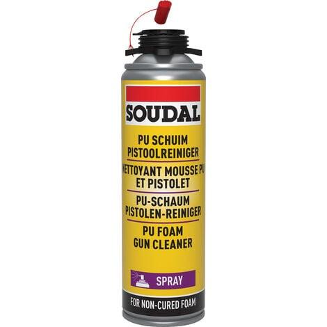 Aerosol nettoyant pour mousse polyuréthane et pistolet 500ml