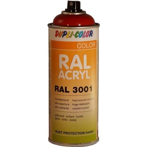 AEROSOL PEINTURE ACRYLIQUE ROUGE SIGNAL 400 ML DUPLICOLOR RAL3001 - MO504563A