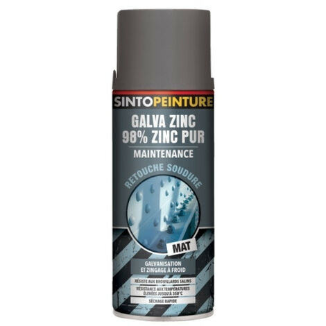 Aérosol peinture galva zinc pur Maintenance, Retouche et Finition SINTO - plusieurs modèles disponibles
