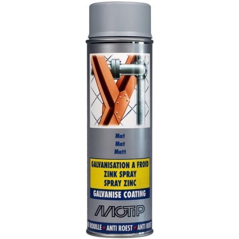 AEROSOL Peinture galvanise Mat pro 500 ml - MO07301