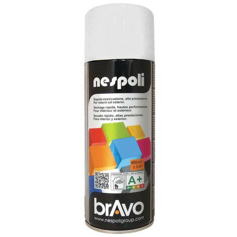 Aérosol peinture professionnelle satiné blanc neige 400 ml, NESPOLI