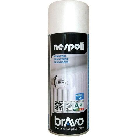 Aérosol peinture spécial radiateur blanc satiné 400 ml, NESPOLI - BLANC