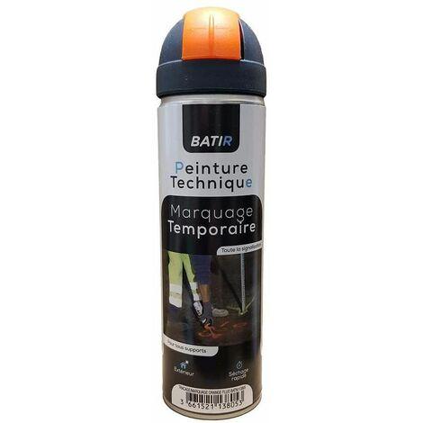Aérosol peinture traçage, marquage, 500ml, orange fluo