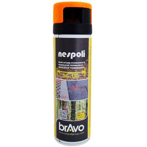 Aérosol traceur de chantier orange fluo 500 ml, NESPOLI