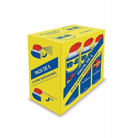 "main image of ""Aérosol WD40 500 ml WD 40 multifonction pack de 6 47.9"""