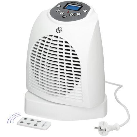 Aérotherme chauffage électrique affichage numérique 2 réglages de chaleur 2000 W