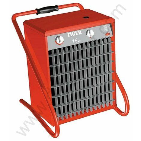 Aérotherme portatif à thermostat électronique Tiger P153 - Grand espace - 400V - 15 kW - Rouge