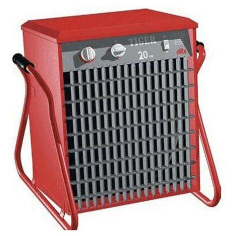 Aérotherme portatif à thermostat électronique Tiger P203- Grand espace - 400V - 20 kW - Rouge