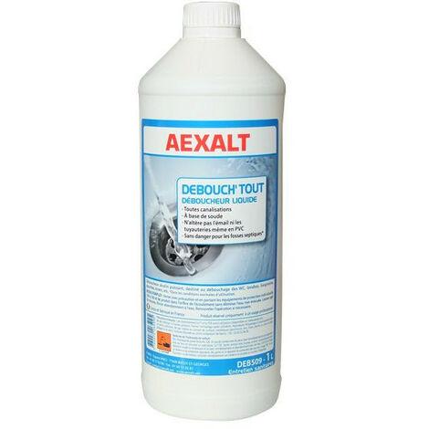 Aexalt - Bidon de 1 L déboucheur liquide alcalin DÉBOUCH'TOUT